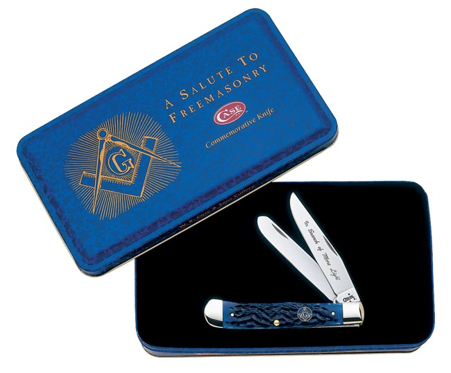Case #1058 (6254 SS Trapper Masonic Set) Trapper Knife Gift Set
