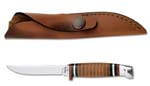 Case #379 (M3FINN SS) Leather Hunter Knife