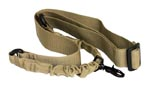 AIMSports One Point Bungee Rifle Sling - TAN