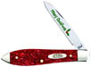 Case #52405 (TB101028 SS) Red Sparkle Kirinite Tear Drop Knife