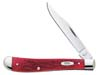 Case #6982 (61048 CV) Dark Red Bone CV Slimline Trapper