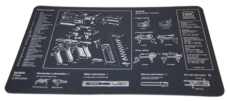 GLOCK Gun Cleaning Armorers Bench Mat With Parts Imprint