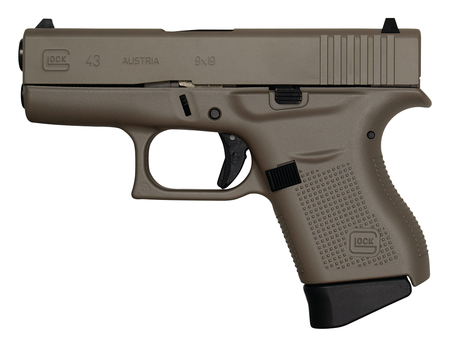 GLOCK 43 9mm Pistol Cerekoted - NEW