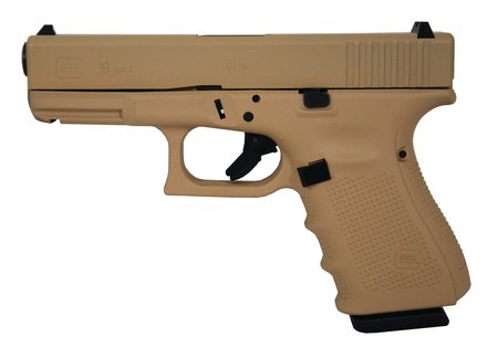GLOCK 19 Gen4 9mm Hot Cerakote Desert Sand Pistol - NEW