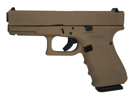 GLOCK 19 Gen4 9mm Hot Cerakote Magpul Dark Earth Pistol - NEW