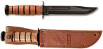 "KA-BAR 1217 Full-size USMC KA-BAR, Straight Edge 7"" Knife"