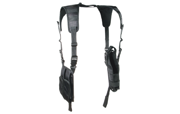 UTG (PVC-H175B) Deluxe Vertical Shoulder Holster - Black