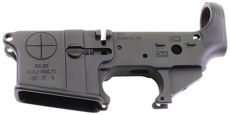 SAA Reticle Logo AR15 Multi-Caliber Stripped Lower Forged Aluminum