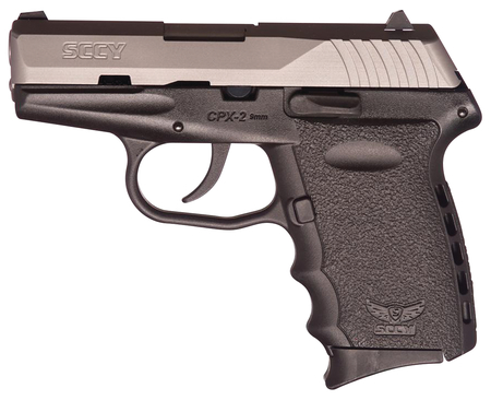 SCCY Industries CPX-2 9mm Pistol - Black and Stainless - NEW