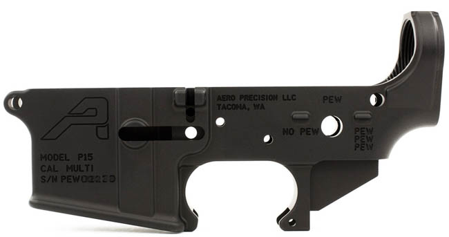 Aero Precision Stripped Lower Receiver Pew Edition