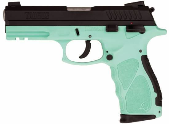 Taurus TH9 9mm Cyan Blue Pistol - NEW