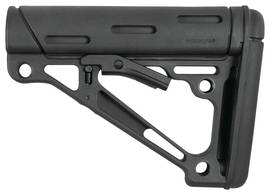 Hogue AR15 Collapsible Buttstock Black Rubber